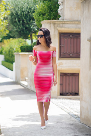 Mossman dress - ysl s1 YSL sunglasses - white leola tony bianco heels