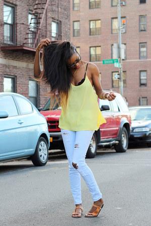 H&M top - Zara jeans
