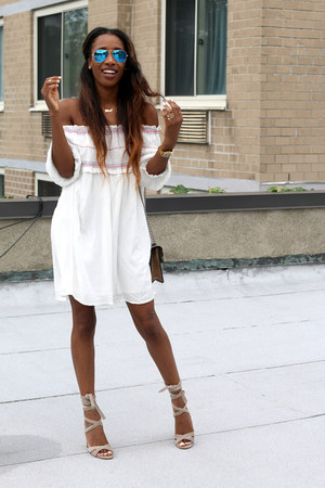 sundress asos dress - taupe suede Steve Madden heels