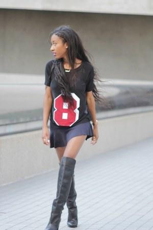 Zara skirt - H&M boots - Zara blouse