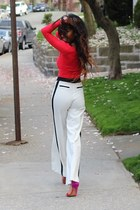 American Apparel top - H&M pants - Zara sandals