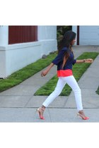 Express jeans - Sugarlips blouse - Zara sandals