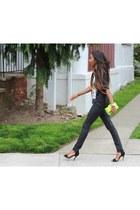 romwe top - Zara heels