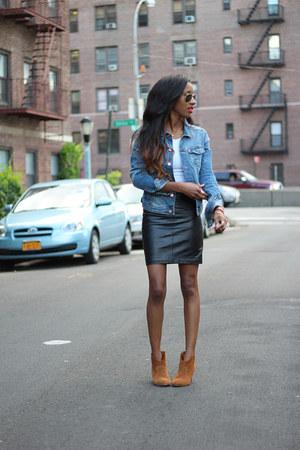 H&M skirt - Aldo boots - H&M jacket