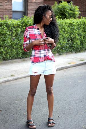 Zara shirt - Forever 21 shorts - Birkenstock sandals