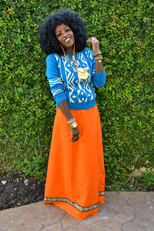 carrot orange WeWe Clothing myself dress