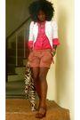 White-jcrew-blazer-pink-jcrew-shirt-brown-forever-21-shorts-brown-sam-edel