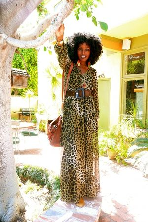 brown Leopard Maxi dress