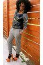 Gray-forever-21-blouse-black-h-m-pants