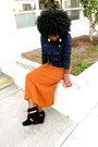 Navy-military-sweater-carrot-orange-sweater-skirt