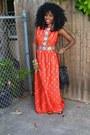 Red-chinese-vintage-vintage-dress