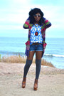 Blue-diy-shorts-red-grandpa-cardigan-light-blue-tribal-top-brown-ankle-clo