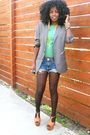 Gray-h-m-blazer-green-diesel-t-shirt-blue-true-religion-shorts