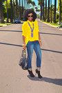 Blue-7-for-all-manking-jeans-yellow-american-apparel-shirt