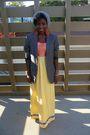 Yellow-wewe-clothing-dress-gray-h-m-blazer-gray-topman-hat-white-converse-