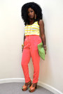 Chartreuse-american-apparel-bag-yellow-basic-top-salmon-american-apparel-pan