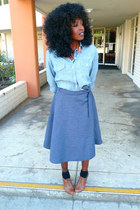 light blue Target shirt - blue made by me skirt