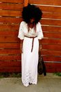 White-maxi-dress-dress-brown-zara-belt