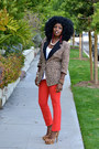 Red-american-apparel-jeans-brown-rachel-zoe-blazer