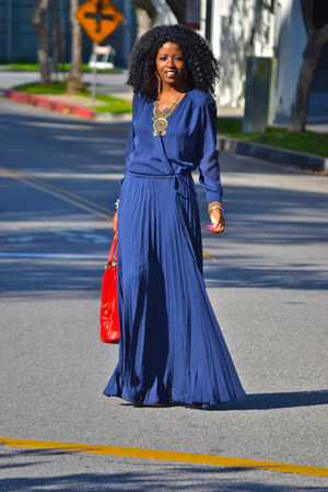 blue Paker dress - nude Report heels