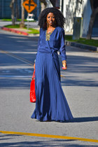 blue Paker dress - nude Report heels