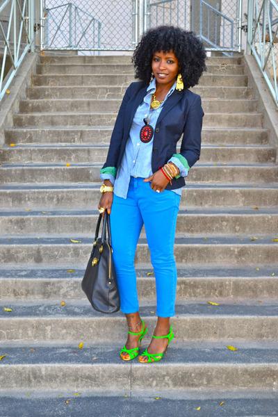 Christian Louboutin heels - Zara jeans - Jcrew blazer - Jcrew shirt