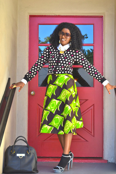 chartreuse Style Pantry skirt - white Jcrew shirt