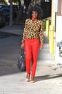 Red-zara-jeans-tawny-leopard-print-romwe-shirt-nude-zara-heels