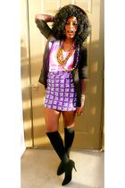 black H&M blazer - purple Ituen Basi skirt - black Urban Outfitters shoes