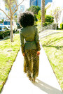 Olive-green-vintage-jacket-light-brown-h-m-dress
