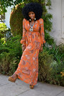Burnt-orange-bohemian-maxi-dress