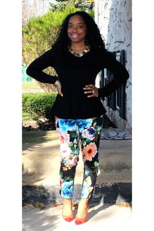 H&M blouse - H&M pants - H&M pumps