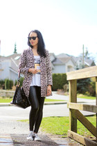 black liquid Wilfred Free leggings - light brown leopard H&M coat