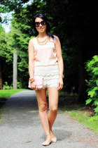 off white crochet OASAP shorts - light pink woc Chanel bag