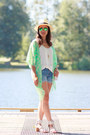 Aquamarine-kimono-ami-clubwear-jacket-blue-boyfriend-old-navy-shorts