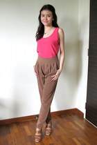 camel rayon Style Societal pants - brown vintage shoes