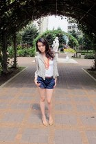 heather gray chiffon jacket