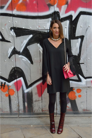 black fringe Elogy dress