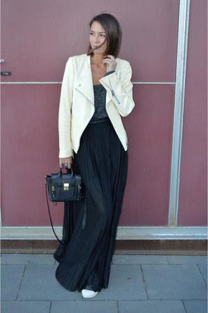 black shoulder bag 31 Phillip Lim bag - black maxi skirt H&M skirt