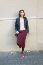 ruby red pencil skirt H&M Trend skirt - hot pink nike sneakers