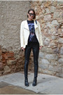Cream-leather-jacket-zara-jacket-black-oversized-reclaimed-vintage-sweater