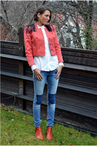 ruby red H&M Trend blazer - blue slim fit H&M jeans