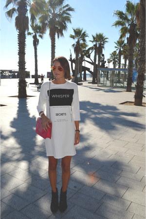 white sweater dress Bershka dress