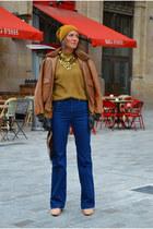 camel mohair H&M Trend cardigan - blue Filippa K jeans