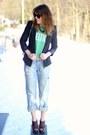Sky-blue-boyfriend-hm-jeans-black-forever-21-blazer-white-vintage-bag