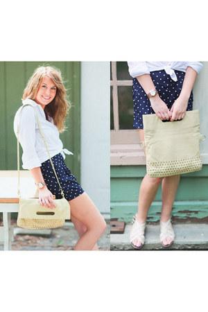 navy polka dot Urban Outfitters shorts