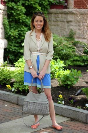 beige thrifted blazer - heather gray sienna ray bag