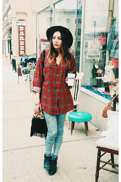 flannel Beacons Closet shirt - free people hat