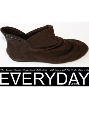 dark brown vegan suede Everyday boots