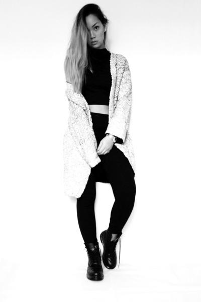 H&M Trend cardigan - Dr Martens boots - Zara pants - top